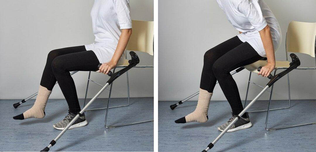 Billede af brug af krykkerne