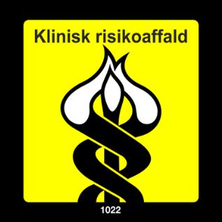 Billede med teksten Klinisk risikoaffald