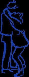 Tegning af fødende stående