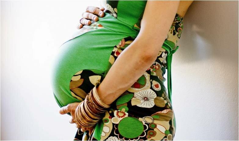 Billede af en gravid