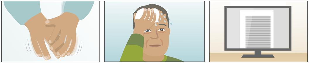 Illustration af symptomer på lavt blodsukker
